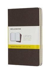 Zeszyty Moleskine Cahier 3 szt. P w kratkę kawowe