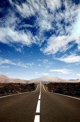 Droga po horyzont - fototapeta