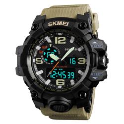 ZEGAREK MĘSKI sportowy SKMEI 1155 S-SHOCK khaki - KHAKI