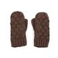 Rękawiczki plecionki brązowe - BRĄZOWE