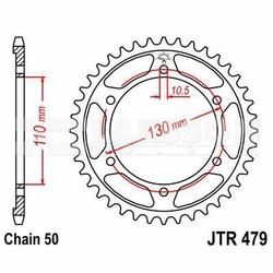 Zębatka tylna aluminiowa JT A479-45, 45Z, rozmiar 530 2303201 Yamaha FZ6 600, YZF-R7 750