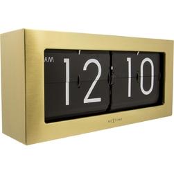 Zegar klapkowy złoty Big Flip Nextime