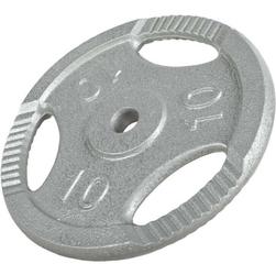 10 kg Obciążenie żeliwne z uchwytami na sztangę 30 mm Gorilla Sports