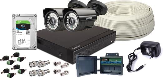Zestaw 4w1, 2x Kamera HDIR20, Rejestrator 4ch, HDD 1TB - Szybka dostawa lub możliwość odbioru w 39 miastach