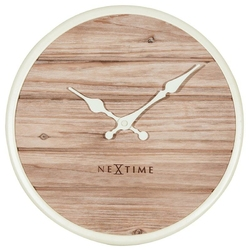 Zegar ścienny Plank 50 cm biały