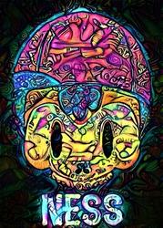 PsychoSkulls, Ness, Earthbound - plakat Wymiar do wyboru: 59,4x84,1 cm
