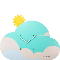 Zegar ścienny z wahadłem do pokoju dziecięcego Cloudy Nextime 3207