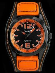 Męski zegarek PACIFIC W206 - blackorange zy023e