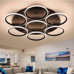 Altavola Design :: Plafon Ledowe Okręgi 7 czarna out 4k - barwa dzienna