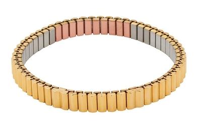bransoletka magnetyczna elastyczna 3519-6 z miedzią, 2400 Gaussów pozłacana