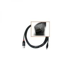 Kabel USB 2.0, USB A M- 8 pin M, 1.8m, czarny, Logo, blistr, SAMSUNG