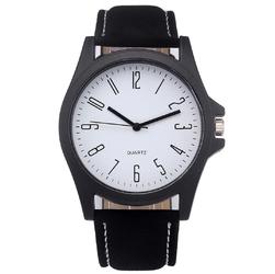 ZEGAREK MĘSKI klasyczny ELEGANCKI BIAŁA TARCZA - black white dial
