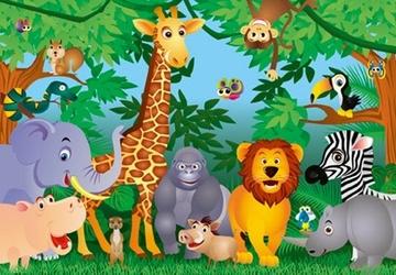 Dżungla, Jungle - fototapeta