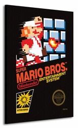 Super Mario Bros. NES Cover - Obraz na płótnie