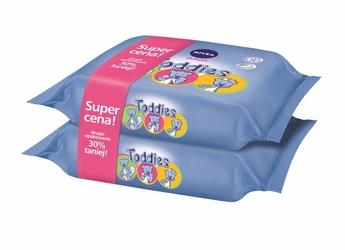 Nivea Baby Toddies, chusteczki nawilżane dla dzieci, 2 x 60 sztuki