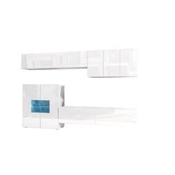 Meblościanka Onyx 7 połysk + LED