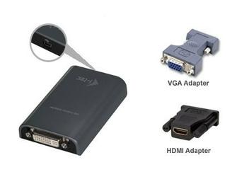 i-tec USB 2.0 Display Video Adapter Advance TRIO DVI HDMI VGA FullHD 1920x1080 px zewnętrzna karta graficzna