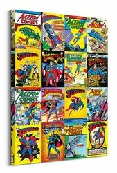 DC Comics Superman Kolaż okładek - Obraz na płótnie