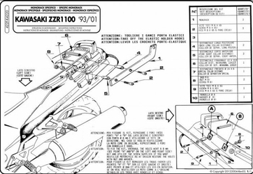 Givi 422F Stelaż Centralny Kawasaki Zzr 1100 93-01