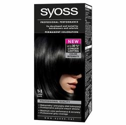 Syoss Color, farba do włosów, 1-1 czerń
