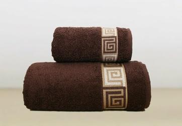 Ręcznik DUNAJ Greno brązowy - brązowy