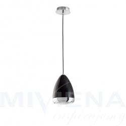 Lampetta lampa wisząca 1 czarny 24 cm