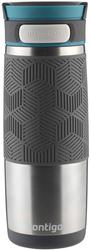 Kubek termiczny Contigo Transit Metra 470ml - srebrny - Stalowy