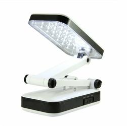 Składana Biało-Czarna Lampka biurkowa 24LED