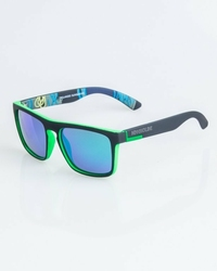 Okulary New Bad Line COMIX POLARIZED BLACK-GREEN RUBBER GREEN MIRROR | 1263