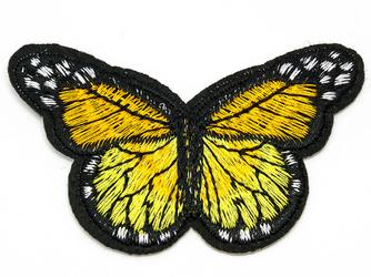 NAPRASOWANKA termo APLIKACJA MOTYL żółta czarna - żółty