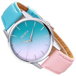 Zegarek damski ombre GENEVA niebieski różowy - blue pink
