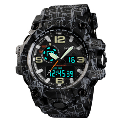 ZEGAREK MĘSKI sport SKMEI 1155 S-SHOCK gray black - gray black