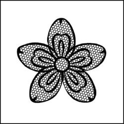 Stempel akrylowy Stamperia - kwiatek - 131