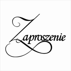 Stempel gumowy Zaproszenie - 02