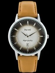 Brazowy zegarek meski na pasku PACIFIC A265T zy042a