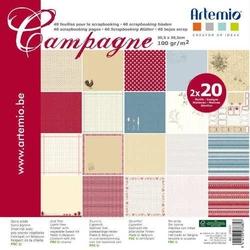 Papier ozdobny 30,5x30,5cm40szt. - Campagne - CAMP