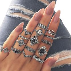Pierścionek ZESTAW pierścionków SREBRO antyczne