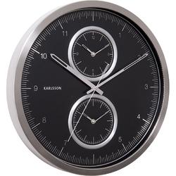 Zegar ścienny Multiple Time Karlsson czarny KA5508BK