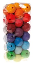 36 kolorowych korali, średnica 30 mm, 3+, Grimms