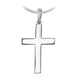 wisiorek krzyżyk ,białe złoto 58514k