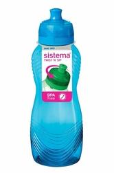 Kolorowa butelka Sistema Wave, 600 ml, niebieska - niebieska