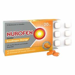 Nurofen Junior Drażetki o smaku pomarańczy 100 mg