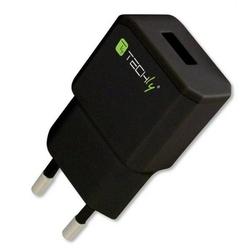 Techly Ładowarka sieciowa slim USB 5V 2.1A CZARNA