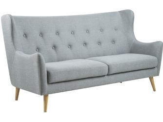 Sofa trzyosobowa Kanna jasnoszara pikowana skandynawska