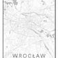 Wrocław mapa czarno biała - plakat Wymiar do wyboru: 20x30 cm