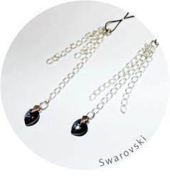 Nasutniki wiszące ND001 z kryształkami Svarowskiego Me Seduce WYSYŁKA 24H