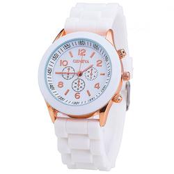 Zegarek Damski GENEVA JELLY watch SPORT biały - WHITE