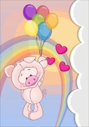 Plakat dla dzieci świnka p092