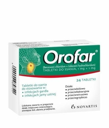 OROFAR x 24 tabletki do ssania