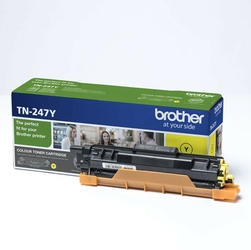Brother oryginalny toner TN247Y, yellow, 2300s, Brother DCP-L3510CDW, DCP-L3550CDW, HL-L3210CW,HL-L3270CDW